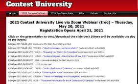 Webseite der US-Contestuniversity